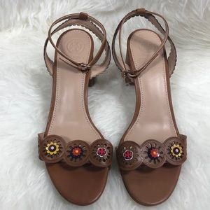 Tory Burch Brown Marguerite Sandals